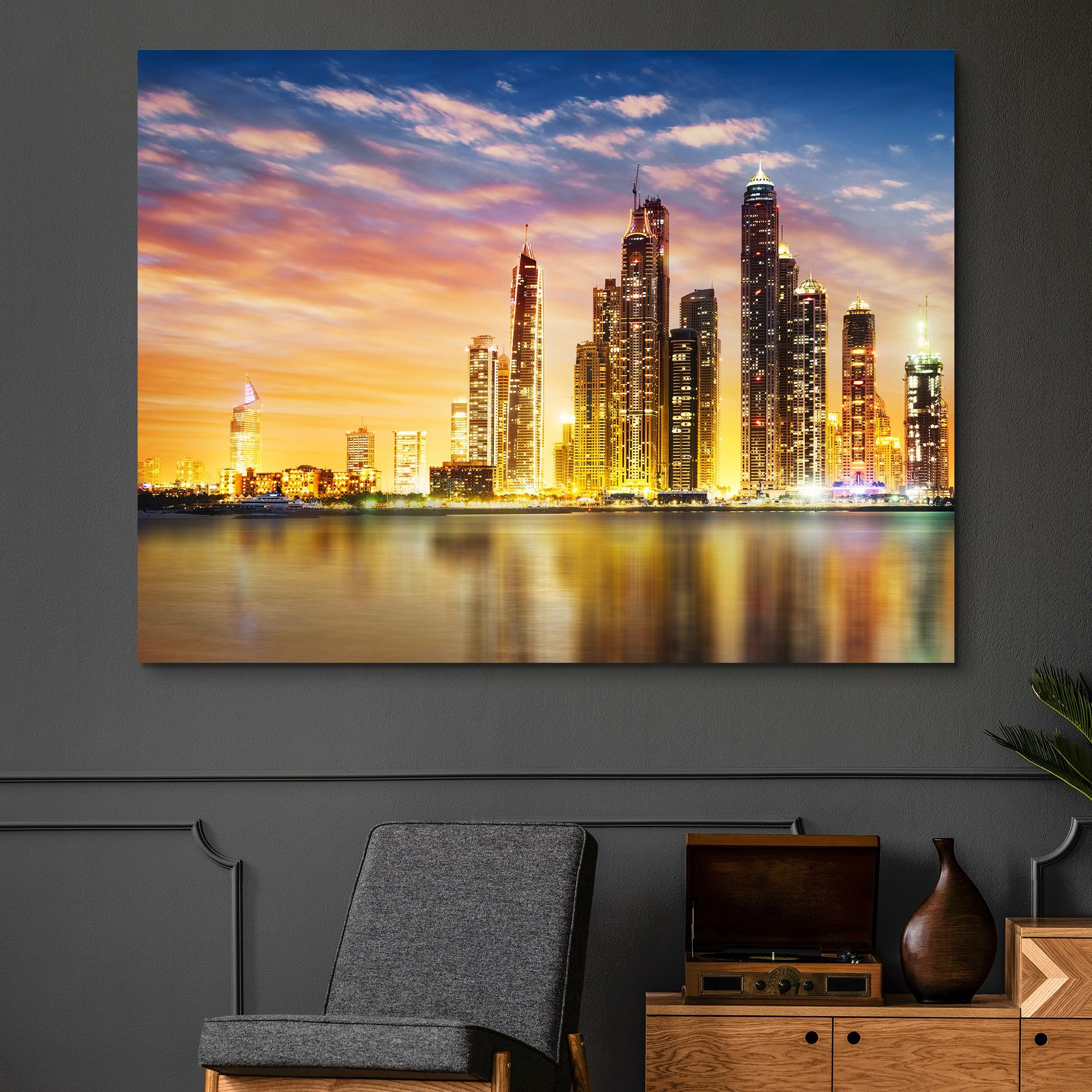 Dubai Marina Skyline wall art