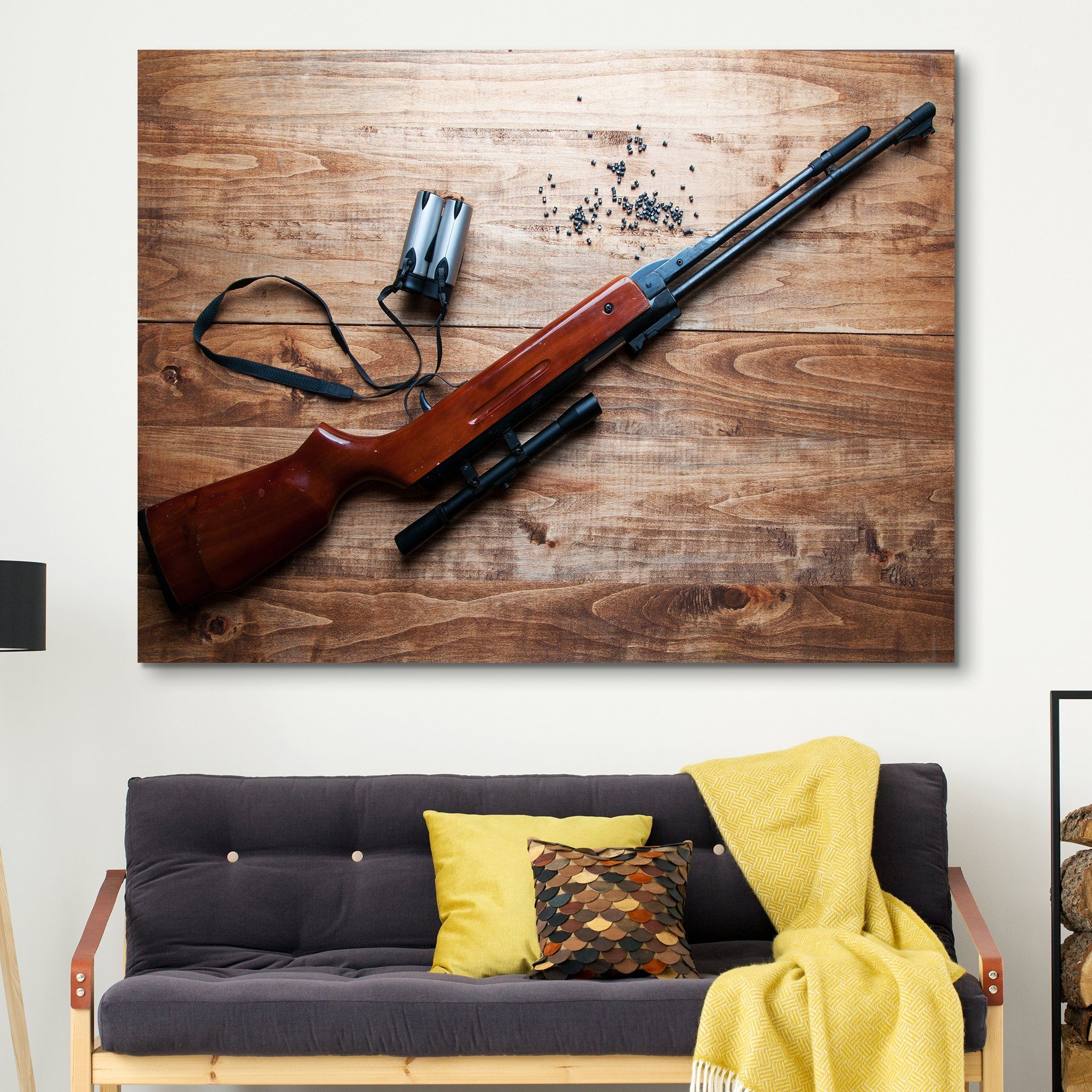Airgun in a Wooden Background wall art