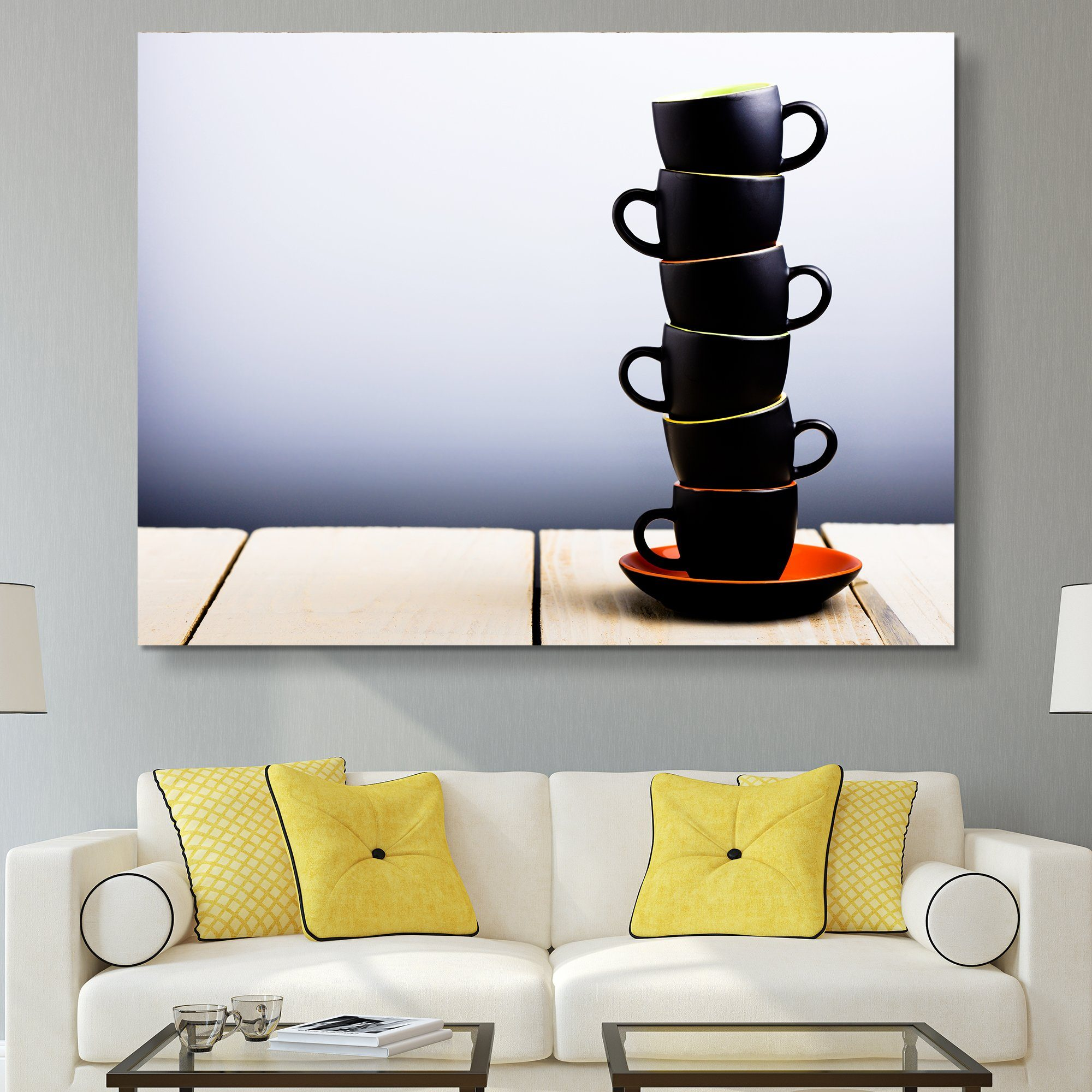 Coffee Cups Stack wall art