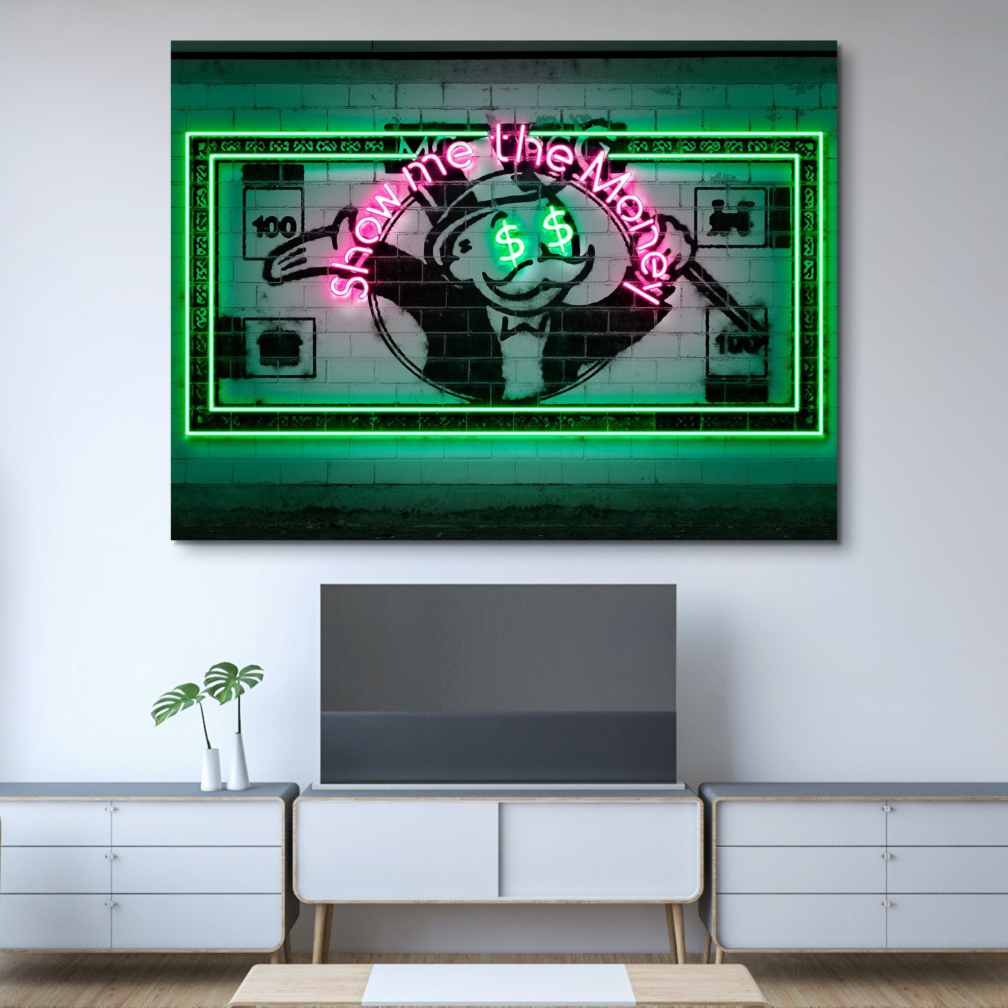 Show Me The Money wall art