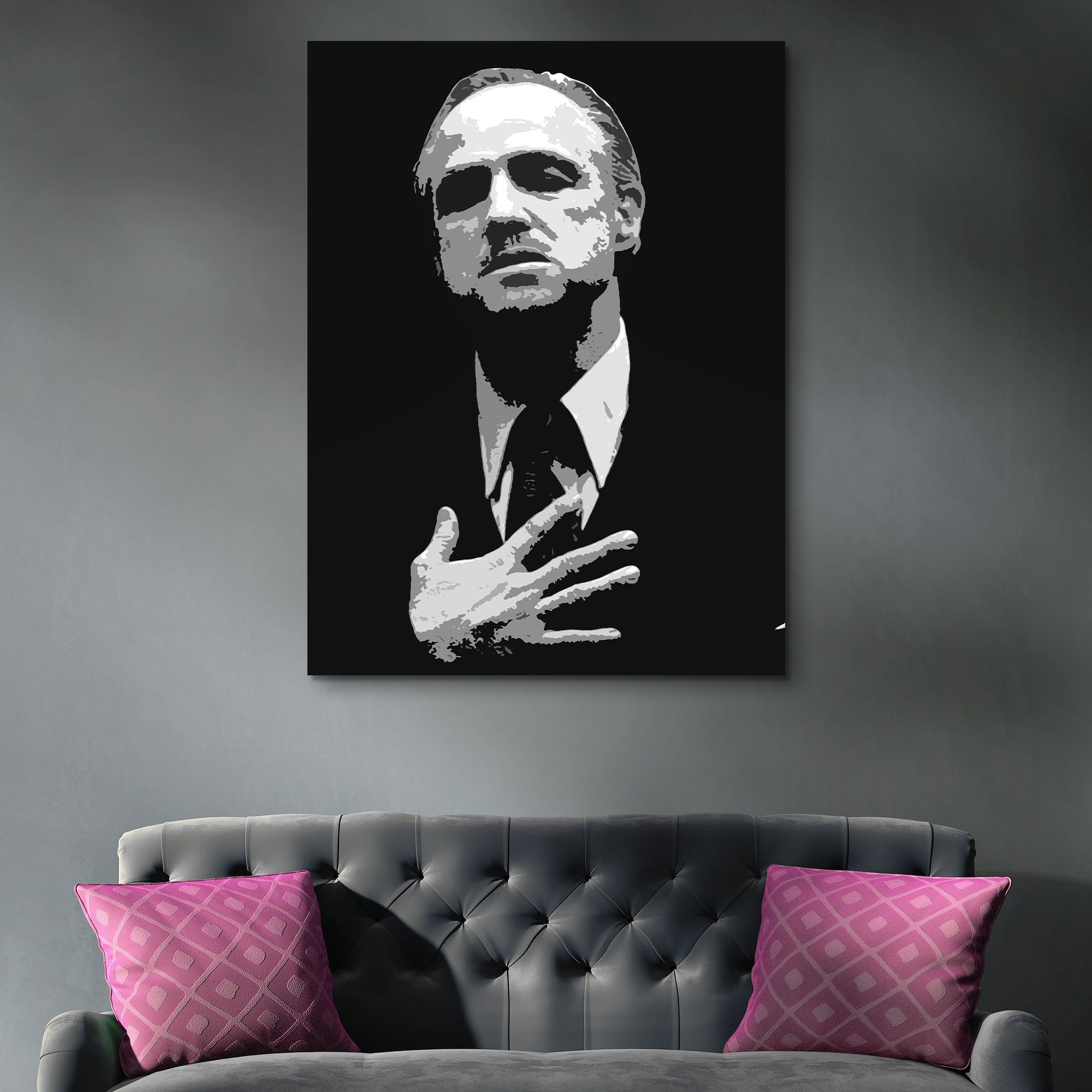 Don Vito Corleone wall art