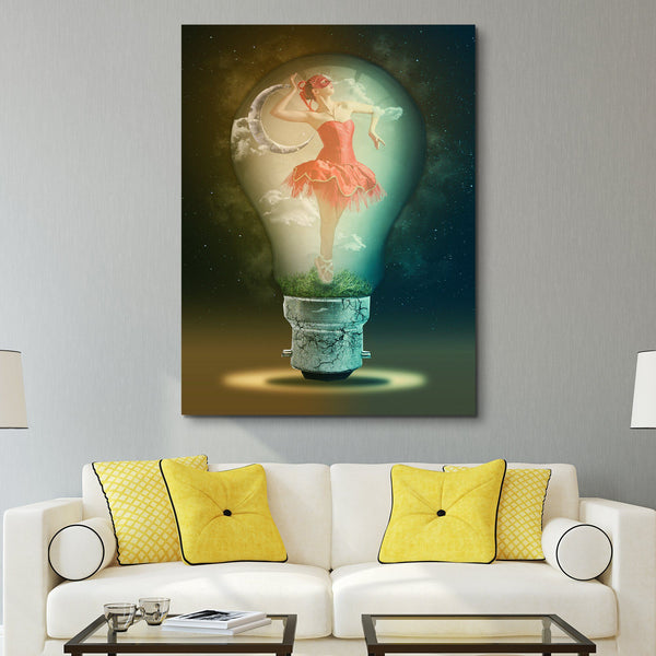 Ballerina Thoughts wall art