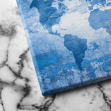world map canvas art