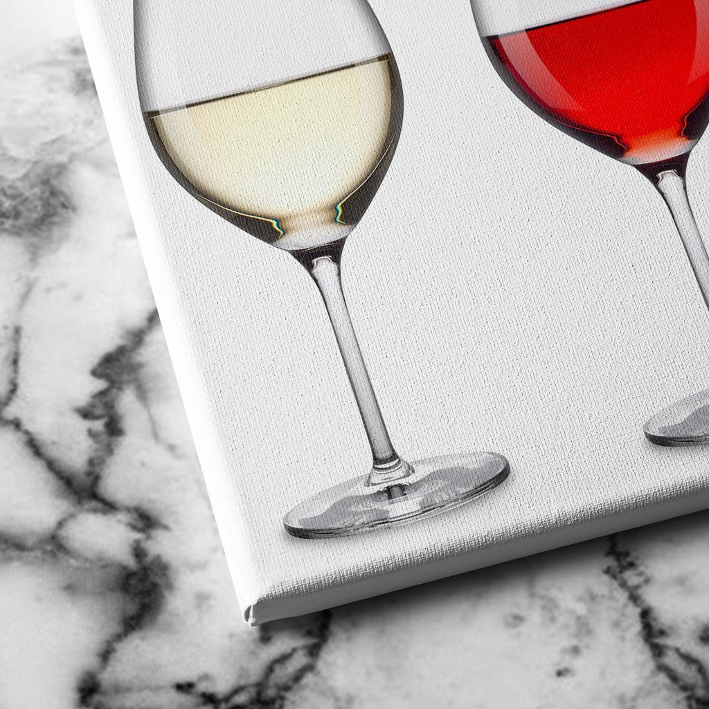 glass of wine canvas art