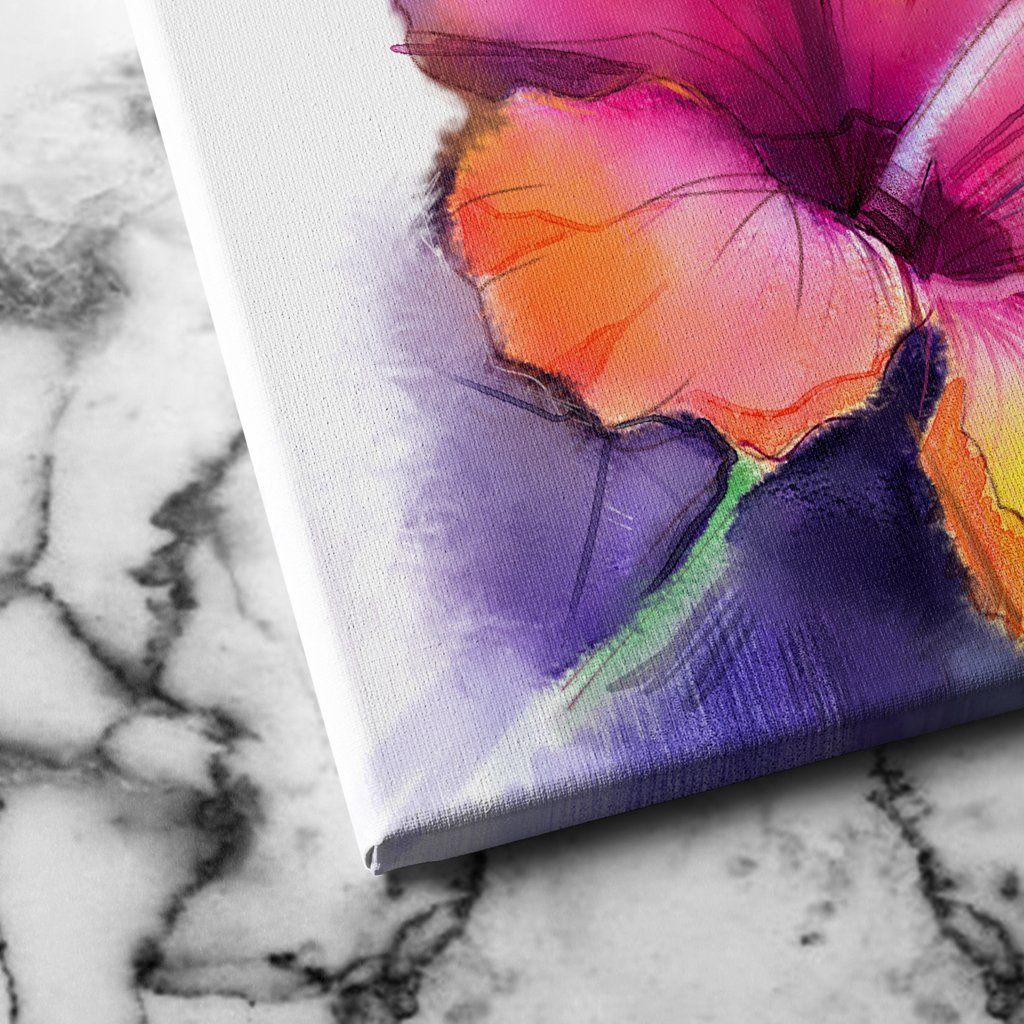 Abstract Hibiscus canvas art