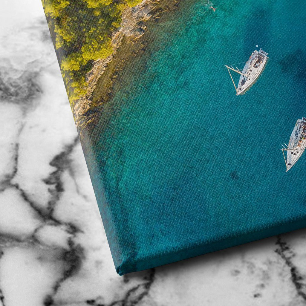 Aerial View of Sailing Boats canvas art