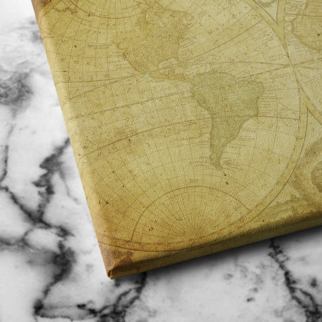 Antique World Map canvas art