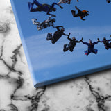 Group Sky Diving canvas art