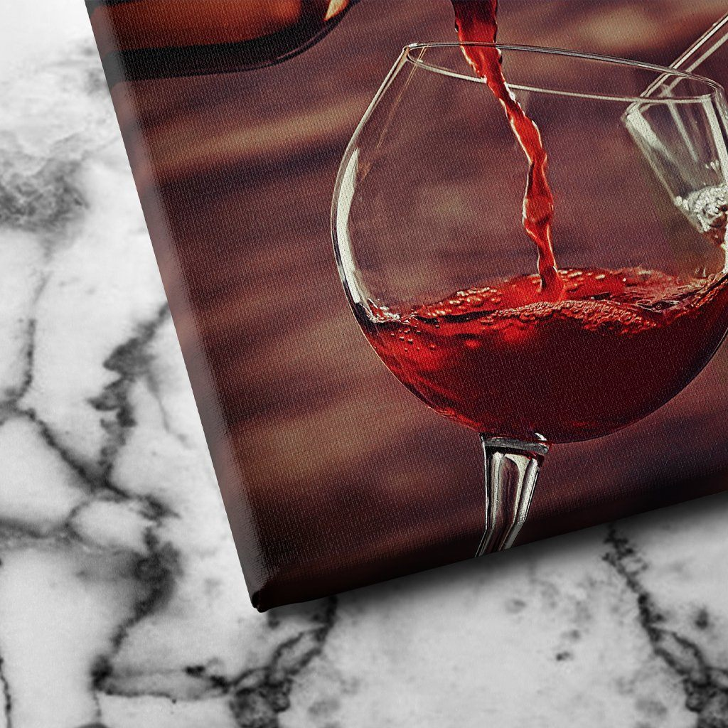 White and Red Wine Pouring canvas art