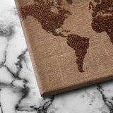 World of Coffee canvas art