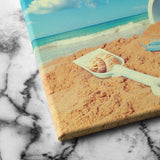 sand castle canvas art