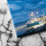 Fishing Boats in Alma canvas art