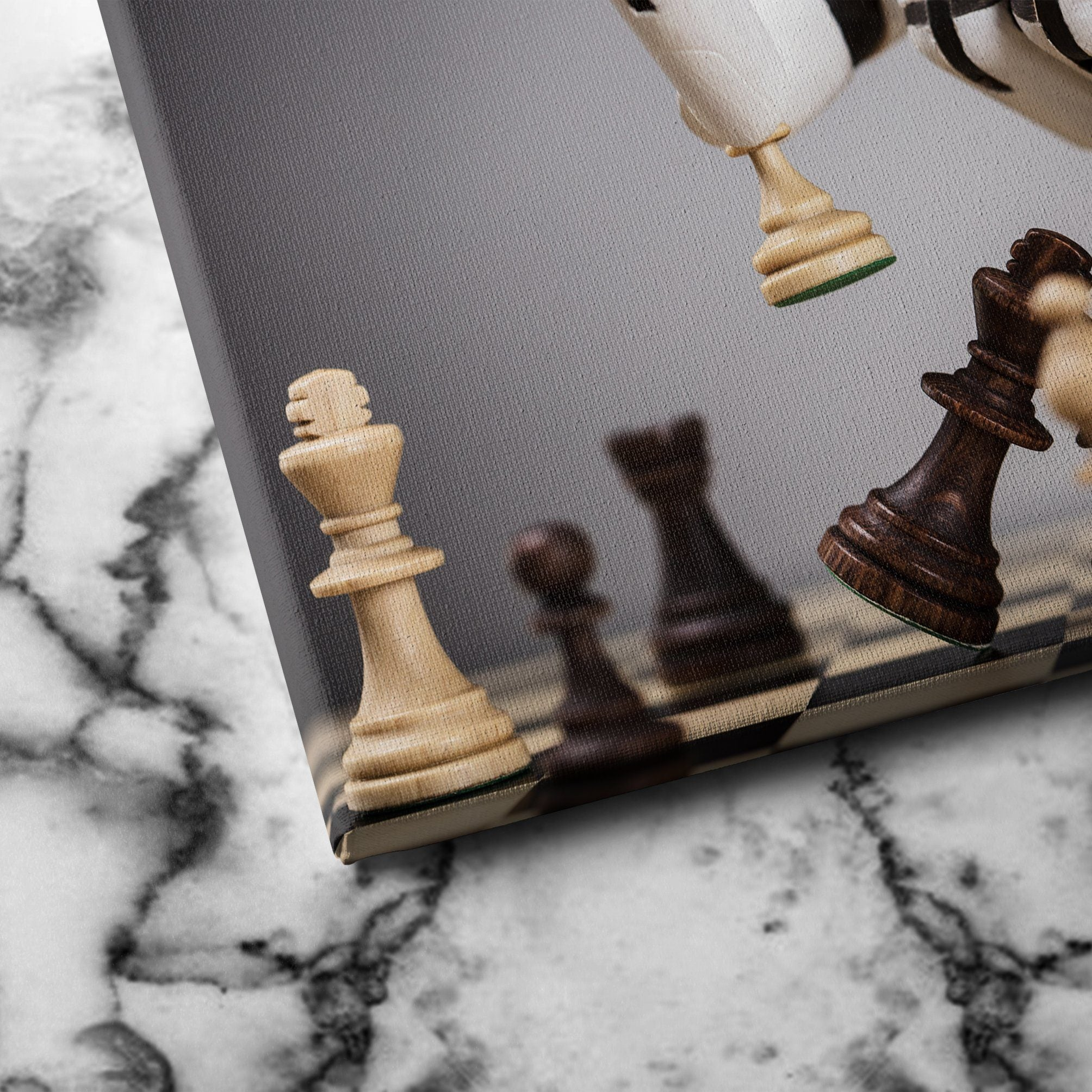 Robot Playing Chess canvas art