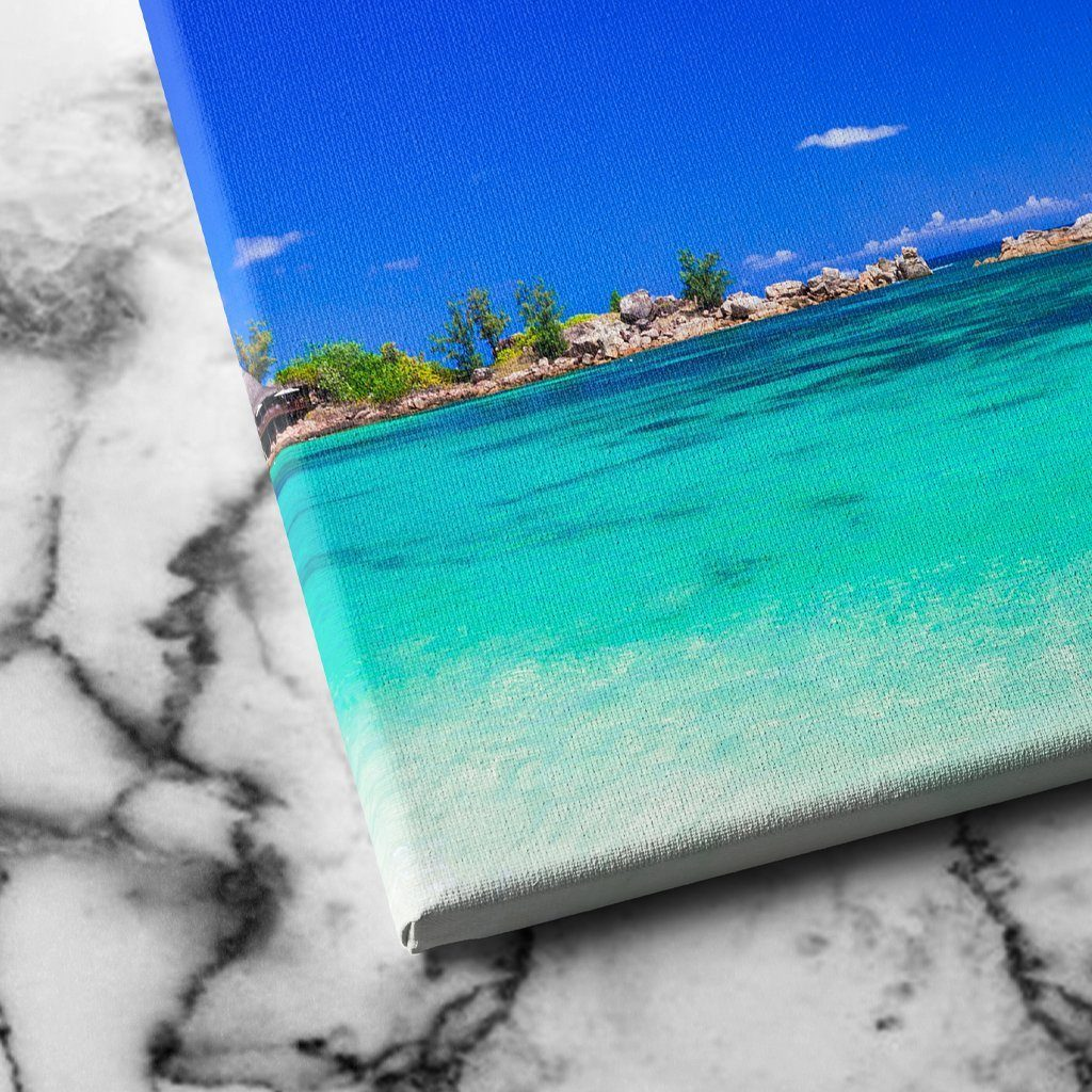 Tropical Paradise Beach canvas art