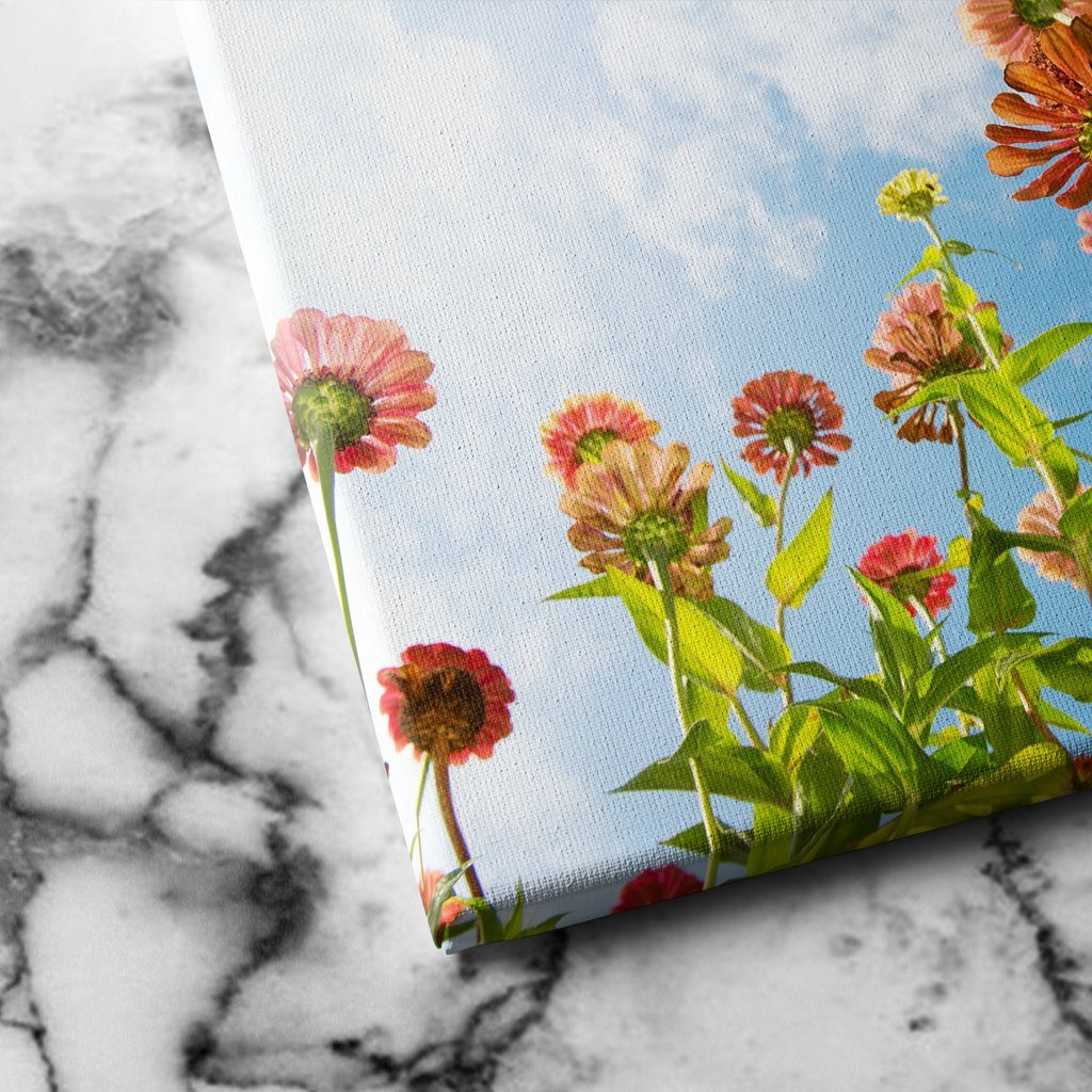 Flowers Over Blue Sky canvas art