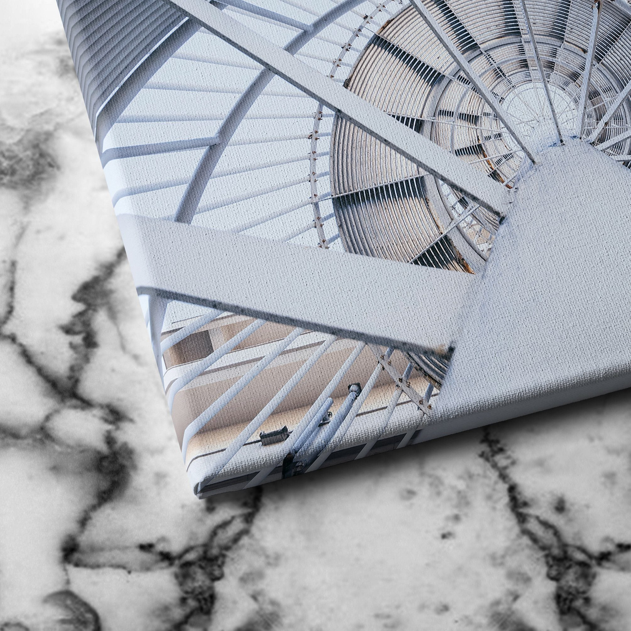 Spinning Steel Staircase canvas art