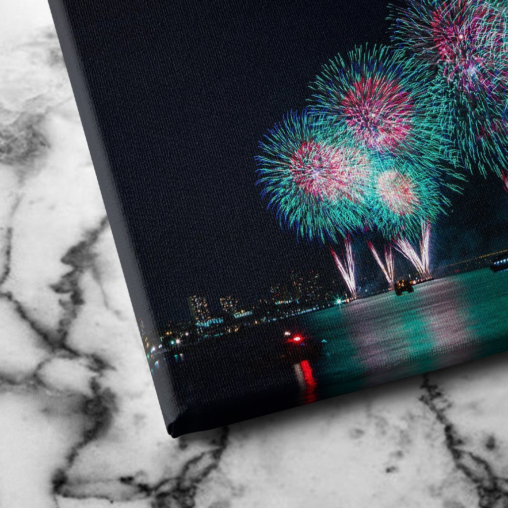 Fireworks in New York canva sart