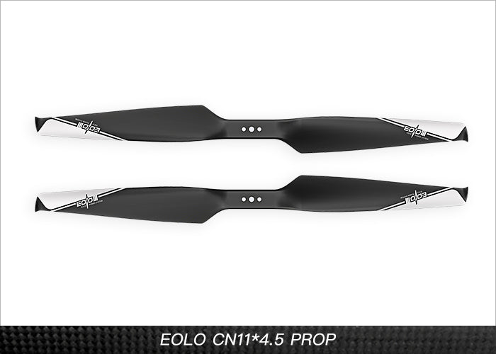 Eolo Carbon Fiber and Nylon Composite UAV Propellers 11x4.5 Inch