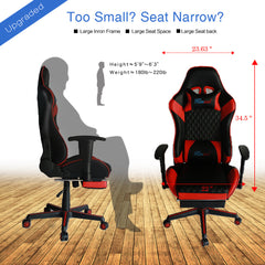 Kinsal Gaming Chair with Footrest (RC-41 RED)
