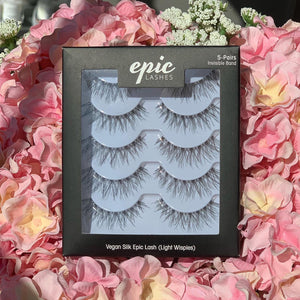 EPIC SILK VEGAN 5-PAIR LASHES (LIGHT WISPIES)