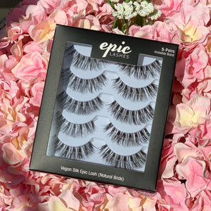 EPIC SILK VEGAN 5-PAIR LASHES (NATURAL BRIDE)