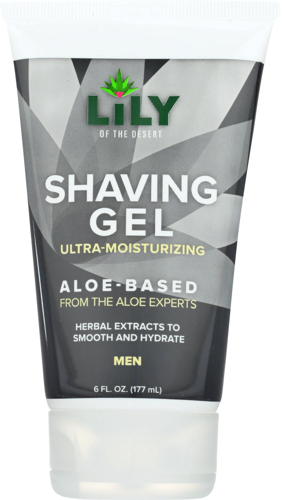 LILY OF THE DESERT: Shaving Gel Mens, 6 fl oz