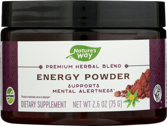 NATURES WAY: Powder Herbal Energy, 2.6 oz