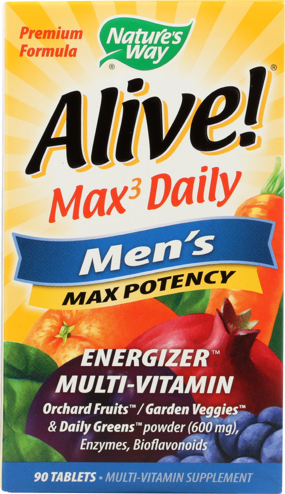 NATURE'S WAY: Alive Max Potency Men's Multivitamin, 90 tablets