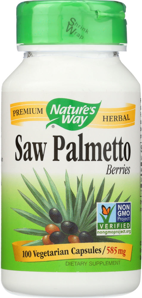 NATURE'S WAY: Saw Palmetto Berries 585 Mg, 100 Capsules