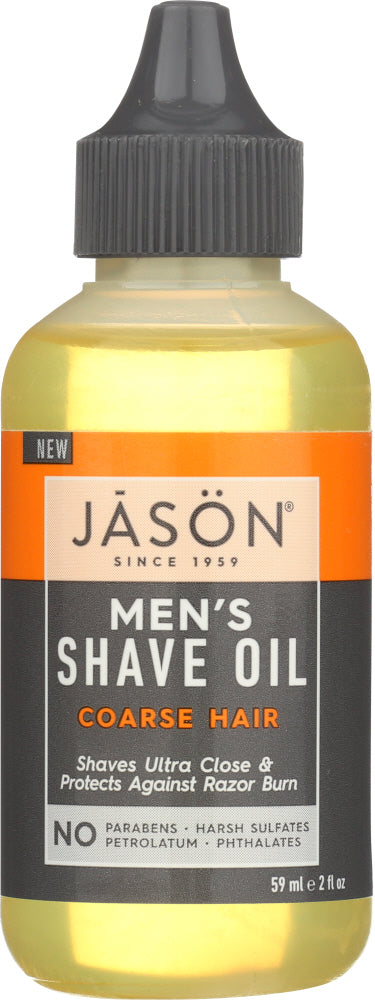 JASON: Shave Oil Mens Coarse Hair, 2 oz