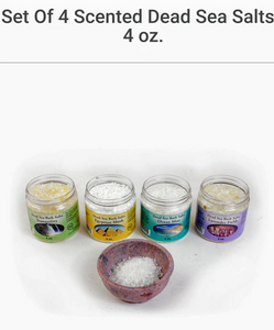 Scented Dead Sea Salts Set of 4