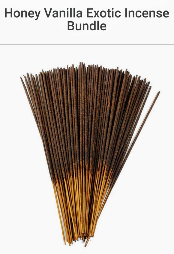 Honey Vanilla Exotic Incense Bundle