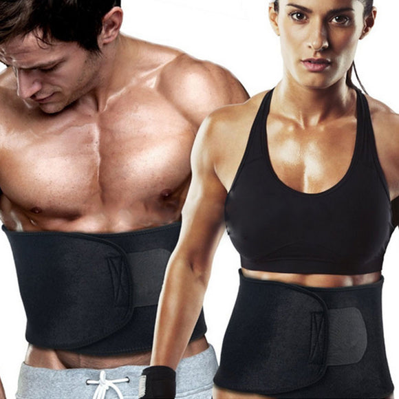 Aptoco Adjustable Waist Trimmer Sweat Slimming Belt Fat Burner Body Shaper Slim Body Burn Exercise Girdle Weight Loss