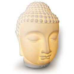 Essential Oil Diffuser Ultrasonic Porcelain Buddha Zen Cool Mister for Aromatherapy with Electric Auto Shut-off  (8 hours continuous)