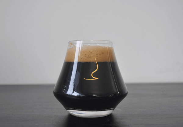 This imperial stout glass is a proper stout glass that is suitable as a barrel aged beer glass.