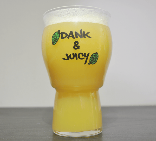 The Dank and Juicy IPA Glassware is the best glass for ipa and is relevant for your dank and juicy ipas. The proper beer glassware is erogonmic and is a stemless pint glass.