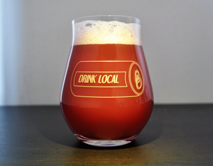 Beer Tulip Glass for IPA that is a nucleated stemless beer glass and proper ipa glassware. The double ipa tulip glass defines proper beer glassware.