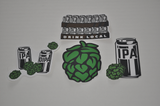 IPA Cans and Hops Stickers | Best Craft Beer Stickers