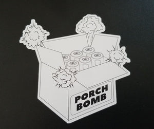 Free Shipping - Die Cut Porch Bomb and I Prefer Craft Beer Sticker Package (15 Stickers)