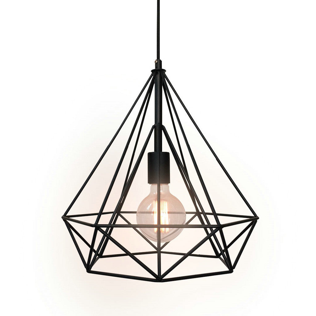 lighting cage. Diamond 1 Light Large Cage Pendant Lighting