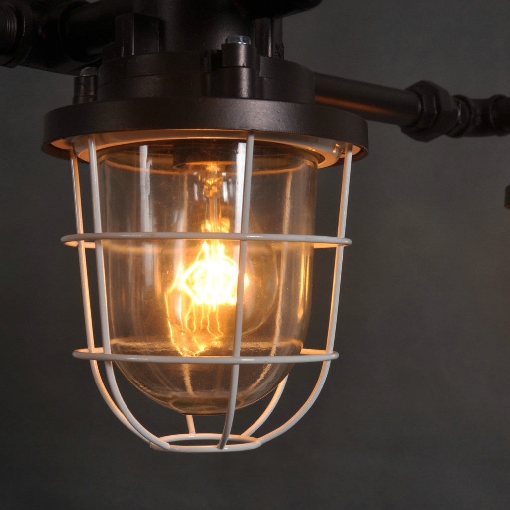 Rustic Aged Iron Industrial Vintage Water Pipes Pendant Light ...
