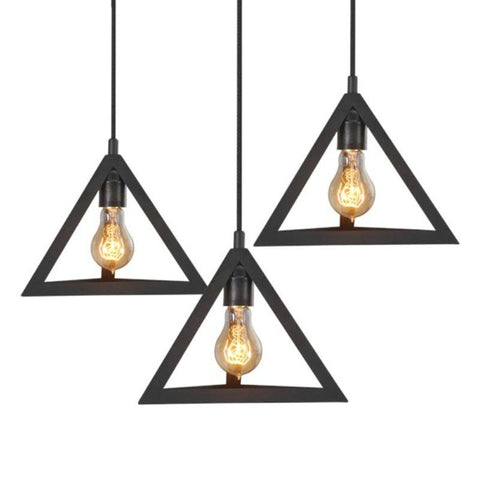 Industrial pendant lighting metal pendant lights craftslighting sale triangle metal pendant light pack of 3 mozeypictures Gallery