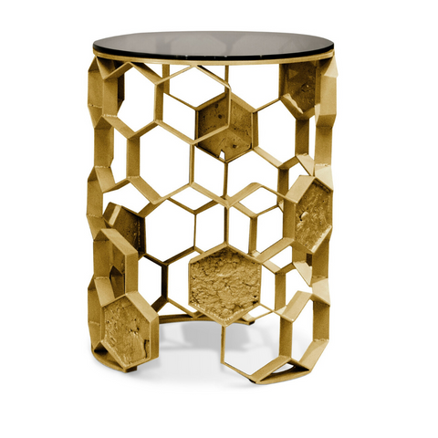 Metallic Side Table