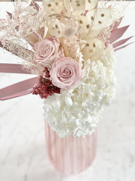 Blush Dried and Preserved Flowers Bouquet (L)