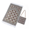 Portable Prayer Mat with Carrying Bag - Moroccan Red