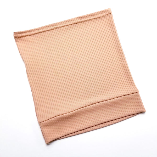 Tan Ribbed Tube Hijab Cap