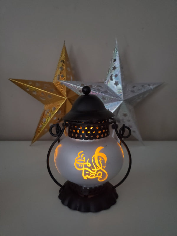 Traditional Style Mini Lantern - Silver