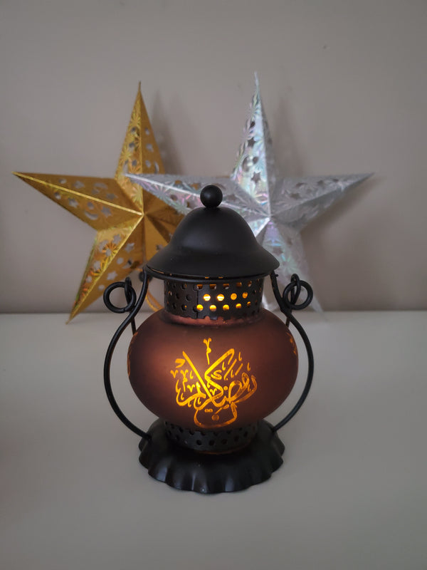 Traditional Style Mini Lantern - Brown