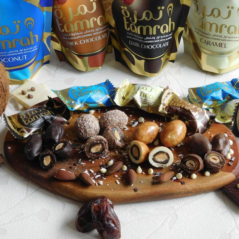 Tamrah Large Assorted Chocolate Covered Dates 600 grams