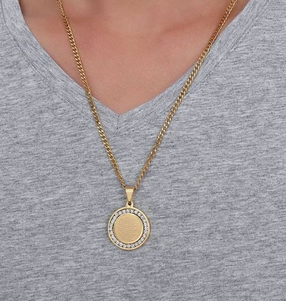 4 Quls Medallion Necklace - Gold